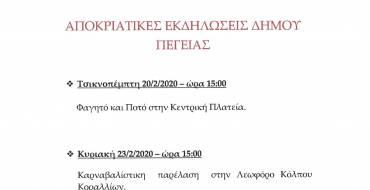 ΑΠΟΚΡΙΑΤΙΚΕΣ ΕΚΔΗΛΩΣΕΙΣ 2020