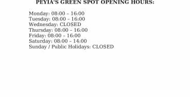 PEYIA'S GREEN SPOT